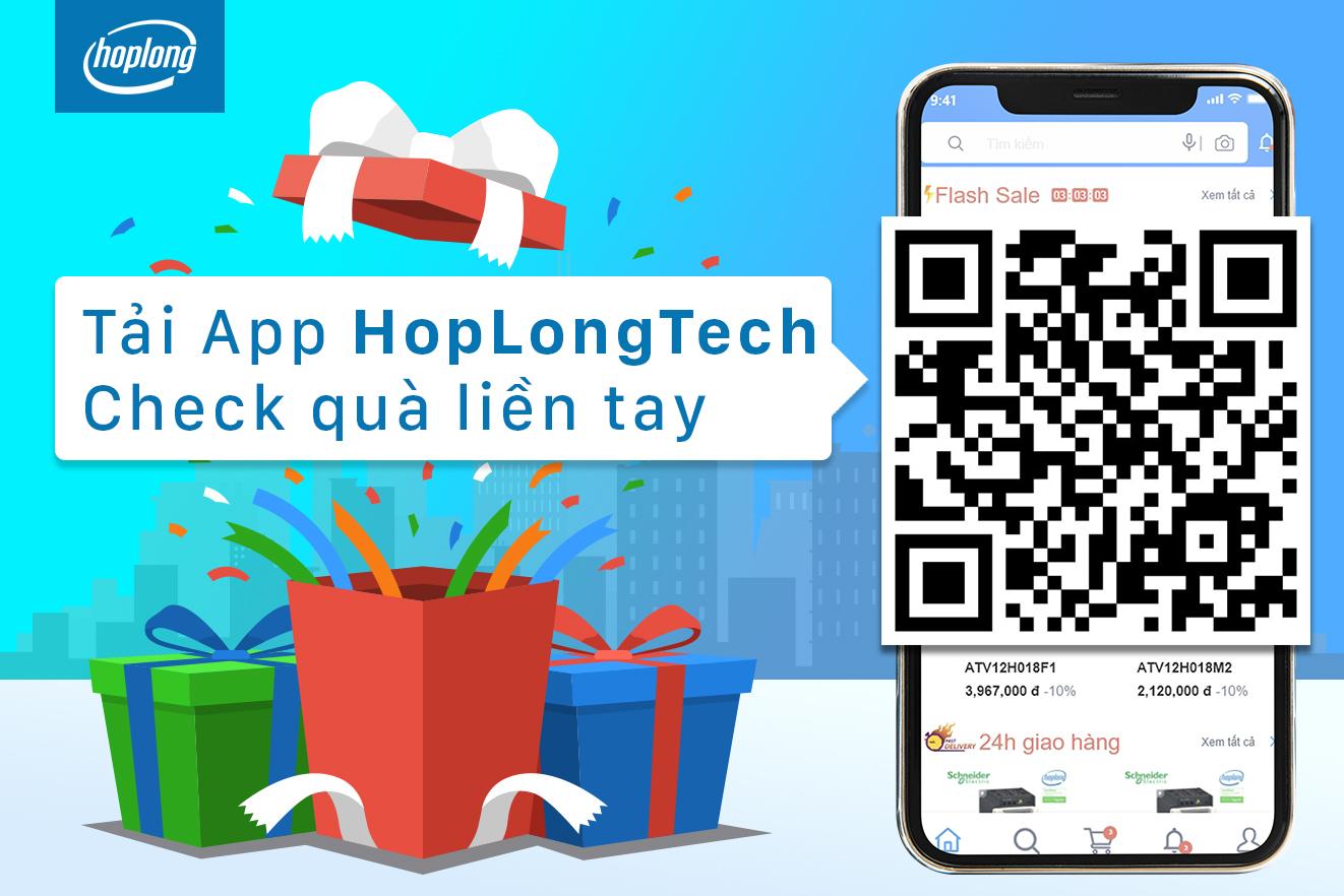 Mua thiết bị điện, tự động hóa đơn giản hơn với App HopLongTech