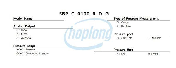 Sơ đồ chọn mã Đồng hồ đo áp suất SBP Sensys